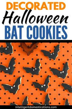 Halloween Bat Sugar Cookies Decorated Bat Sugar Cookies for Halloween. Sugar Cookie recipe for making refrigerated cookies that can be cut out using cookie cutters. You can ice these cookies. Halloween B Pumpkin Sugar Cookies, Halloween Sugar Cookies, Pumpkin Spice Cupcakes, Sugar Cookies Recipe, Pumpkin Pie Spice, Halloween Food For Party, Halloween Bats, Halloween Foods, Halloween Ideas