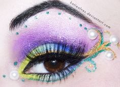 Mardi Gras Sparklesby =KatieAlves  Traditional Art / Body Art / Cosmetic Application / Make-Up / Beauty	©2012-2013 =KatieAlves