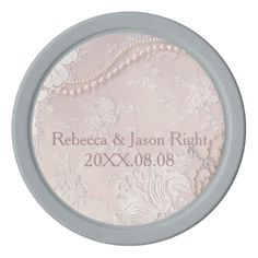 pastel pearl lace dusty pink wedding favor