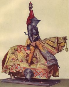 1520 German: Knight in tourney array, bearing the arms of the patrician Nuremberg family, German
