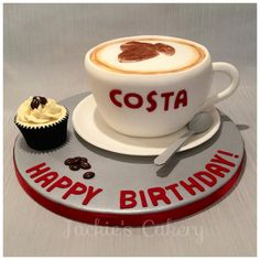 Costa Coffee Cake by Jackie's Cakery - For all your cake decorating supplies, please visit craftcompany.co.uk