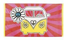 70er Jahre Hippiedekoration Fahne Flagge Hippiedeko Dekofahne Mottoparty Hippie de.picclick.com