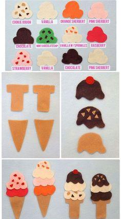 40+ DIY Travel Activities - DIY Ice Cream Felt Board