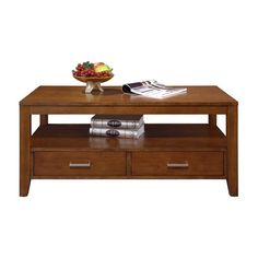 Have to have it. Koncept 2 Drawer Coffee Table - Brown Cherry - $394 @hayneedle Cool Coffee Tables, Drawers, Cabinet, Contemporary, Living Room, Brown, Richard Dolan, Furniture Ideas, Home Decor