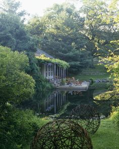 Lake-side country retreat via Lonny
