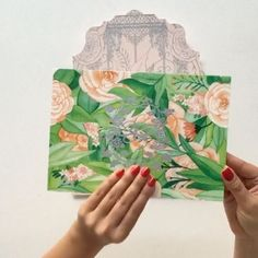 [VIDEO] #CeciDesignofTheWeek Hand painted peonies in a secret garden for our #CeciBride Noora in Doha, Qatar. My custom watercolor painting mounted to the back of the invitation with their personalized logo foil stamped in the center. The wedding invitation details are in Arabic printed in silver foil and coral pink letterpress. #thececiexperience #cecinewyork #cecicouture #custominvitations #secretgarden #secretgardenparty #oneofakind #personalized #design #arabic #arabicinvitations…