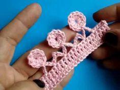 Пико на столбике без накида - Picot in the single crochet - YouTube