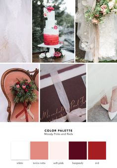 Color Palette: Moody Pinks and Reds | Cake and Lace - wedding inspiration, wedding vendors, and more