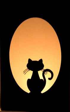 halloween paper lanterns black cat lumaries by greencaligo on etsy 1800 - Black Cat Silhouette Halloween
