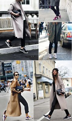 If there's one trend that will bring a sigh of relief, it's the wave of casual-chic sneakers. Comfortable fashion? We're happy to hop on board! There are a few tricks to pull off the look so it's modern and fresh, rather than lazy or gym rat-esque. A few shoes that work best for the trend are New Balance, Nike, Adidas Hightops, and Onitsuka Tiger Asics—all clean, simple, and slightly retro. Wear these sneakers in neutral black, gray, or white hues, or in muted, deep ...