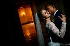 Intimate portrait of bride and bridegroom | Low light portrait | Chrisman Studios wedding photography
