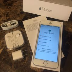 MAKE OFFER :: Brand New AT&T iPhone 6 AT&T Silver iPhone 6 / 128 GB / ::: Brand new. Never used. You will receive it just as you would in the store- original box, accessories, etc. - minus the plastic on the box and phone. Accessories are in original packaging. All photos are of actual product. $750 value/no taxes/no contract. Other