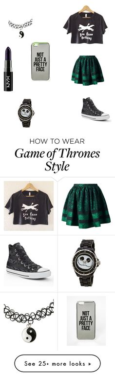 """""""Random outfit for you people"""" by katmccreery on Polyvore featuring RED Valentino, Converse, ASOS and NYX"""