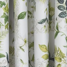 Patterned with flowers and foilage for a sophisticated print design these curtains from Dorma are made from cotton and crafted to offer a 300 thread count alongside a blackout lining, they are available in a choice of sizes. Curtains Dunelm, Curtains Uk, Rose Curtains, Types Of Curtains, Shabby Chic Curtains, Blackout Eyelet Curtains, Blue And Green Living Room, Ercol Chair
