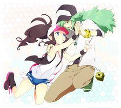 Touko and N. #Ferriswheelshipping