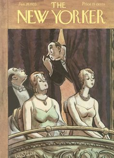The New Yorker - Saturday, January 28, 1933 - Issue # 415 - Vol. 8 - N° 50 - Cover by : William Steig