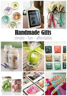 Handmade Gift Ideas that Anyone Can Make! Great ideas for DIY Christmas and holiday gifts!