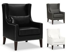 Peabody Leather Collection | Furniture.com-Accent Chair $299.99