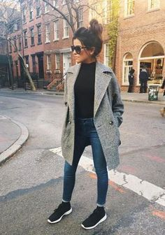 Inspirational Ideas For Autumn Fashion Outfits Street Style Casual Simple Winter Outfits, Best Casual Outfits, Casual Winter, Outfits For Teens, Spring Outfits, Fall Winter, Outfit Winter, Autumn Outfits, Uni Outfits