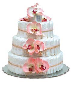 Diaper cake! Great baby shower gift!