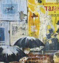 Yuri Pimenov, POSTERS IN THE RAIN