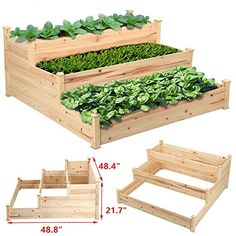 Package included: 1 x 3-Tier Raised Garden Bed 1 x Assembly Instruction...