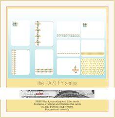 Paisley cards + weekly freebie
