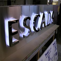 stainless steel backlit channel letters more information :www.szcosun.en.alibaba.com
