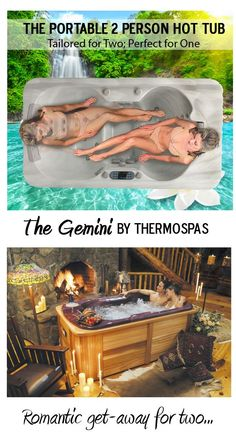 The Gemini Portable 2 Person Hot Tub from #Thermospas