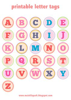 Free printable alphabet letter tags – DIY Buchstaben Sticker – freebie | MeinLilaPark – digital freebies
