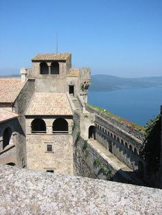 Lake Bracciano seen by Orsini-Odescalchi Castle (where Tom Cruise and many other stars got married)
