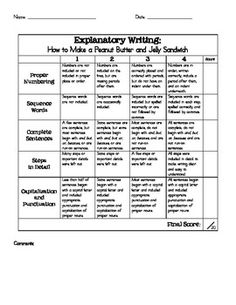 How to Make a Peanut Butter and Jelly Sandwich- Explanatory Writing Assessment - Luckeyfrog - TeachersPayTeachers.com