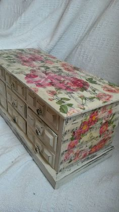 Large musical jewellery box shabby chic extra large with