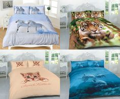ANIMAL DUVET COVER SET WITH PILLOW CASES BEDDING SETS ALL SIZES