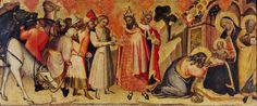 Spinello Aretino - Adorazione dei Magi - XV d.C. - tempera e oro su tavola - Galleria Nazionale, Parma