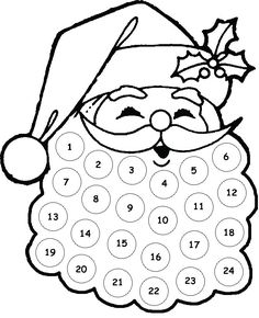 Free Printable Santa Countdown,This quick printable is the perfect little countdown for toddlers. Give them some stickers or a marker pen and allow them to check off each day. Preschool Christmas, Christmas Crafts For Kids, Christmas Projects, Winter Christmas, Holiday Crafts, Holiday Fun, Christmas Holidays, Santa Crafts, Elegant Christmas