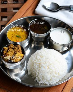 Makar Sankranti Have a traditional Indian meal to honor and respect those who have passed. South Indian Curry Recipe, South Indian Food, Lunch Recipes, Cooking Recipes, Vegetarian Recipes, Veg Thali, Indian Meal, Healthy Food Alternatives, Easy Indian Recipes