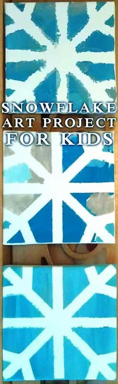 Snowflake Art Project for Kids #crafts #winter #snowday