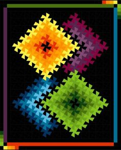 New Twister Patterns | Bayside Quilting: Twister Illusions Use With Either Tool