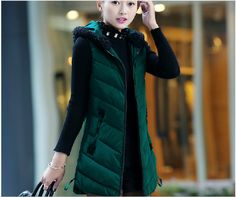 2016 Winter New Fashion Women Vest Elegant Hooded Thick Warm Cotton Vest Slim Big yards Street fashion Leisure Vest CCoat G2228 - http://fashionfromchina.net/?product=2016-winter-new-fashion-women-vest-elegant-hooded-thick-warm-cotton-vest-slim-big-yards-street-fashion-leisure-vest-ccoat-g2228