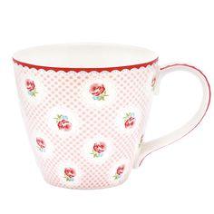 GreenGate Henkeltasse Tammie Pale Pink Frühling pur! Das tolle blassrosa und das zarte Blumenmuster der Tasse Tammie Pale Blue von Greengate macht uns richtig Lust auf eine schöne Tasse Kaffee in den ersten Sonnenstrahlen des Frühlings. Mit Tammie kannst auch Du Dir das Warten auf wärmere Tage verkürzen.