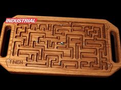 Wooden Game Maze Puzzle with Steel Ball Bearing CNC Project Using Amana Tool CNC& Wooden Game Maze Puzzle with Steel Diy Cnc Router, Cnc Router Bits, Woodworking Saws, Woodworking Projects, Trotec Laser, Maze Puzzles, Wood Games, Wood Carving Designs, Creations