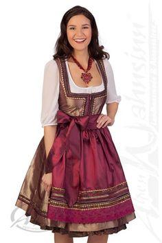 Kruger Dirndl costume Midi Dirndl 2 pcs. - MAGDALENA - 18636 - loden, gold cae0fd296f