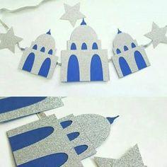 Mosque Masjid Eid DECOR Banner Islamic decoration for Eid Ramadan Eid Crafts, Ramadan Crafts, Diy And Crafts, Crafts For Kids, Paper Crafts, Eid Moubarak, Eid Ramadan, 2018 Ramadan, Fest Des Fastenbrechens
