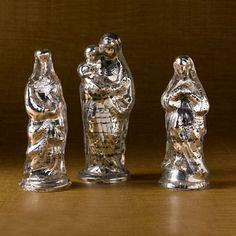 mercury glass | Antiqued Mercury Glass Figures | Gump's