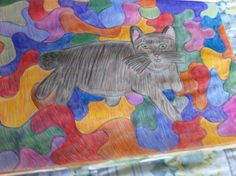Cat Fun  Colored Pencil Drawing  By Creative Artistry By Christina V Saunders