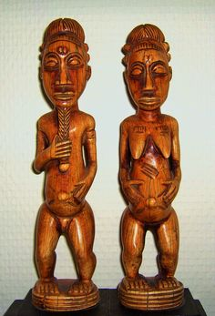 Baule Couple. Ivory Coast. 19+20cm. Ivory. 1st half 20th century. Collection PD-Jipsinghuizen-NL