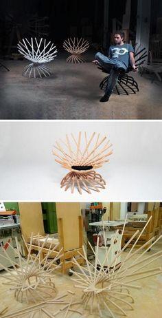 Fashion wooden stick chair 8-7