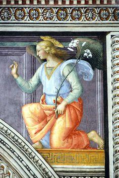 Montefalco - Perugino Annunciazione Angelo