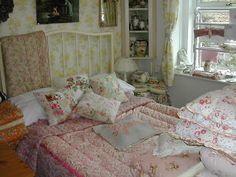 Nostalgia at the Stone House. Pretty bedroom.